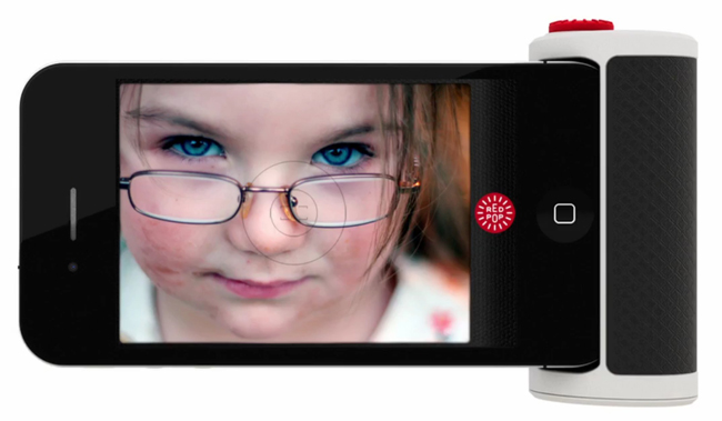 The Red Pop camera interface for the iPhone